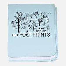 Leave Nothing but Footprints baby blanket