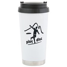 Disc Launch Green Travel Mug