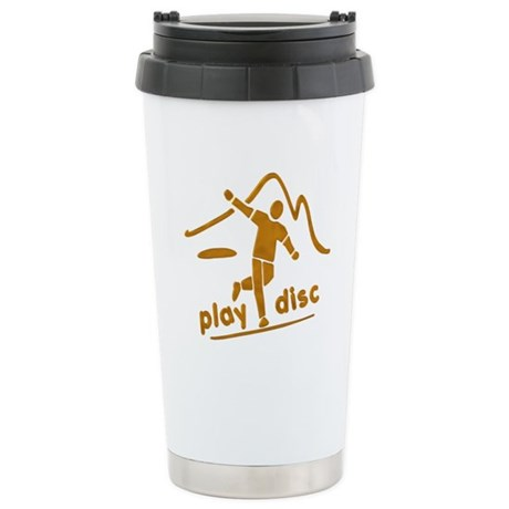 Disc Golf Launch Rust Stainless Steel Travel Mug