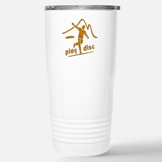 Disc Golf Launch Rust Stainless Steel Travel Mug
