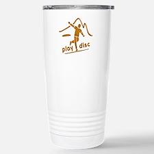Disc Golf Launch Rust Travel Mug