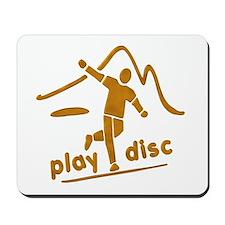 Disc Golf Launch Rust Mousepad