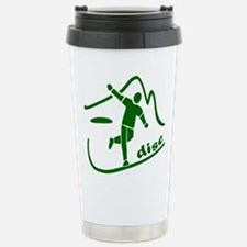 Disc Launch Green Stainless Steel Travel Mug