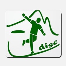 Disc Launch Green Mousepad