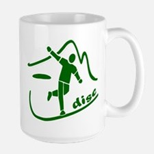 Disc Launch Green Large Mug