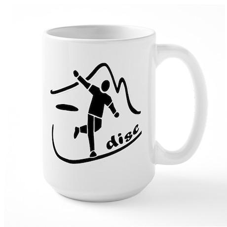 Disc Launch Black Large Mug