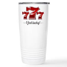 """""""I Feel Lucky"""" Ceramic Travel Mug"""