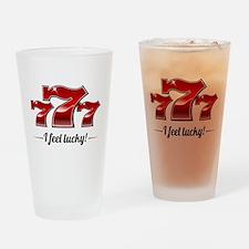 """I Feel Lucky"" Drinking Glass"