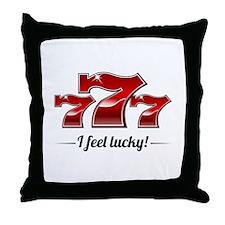 """I Feel Lucky"" Throw Pillow"
