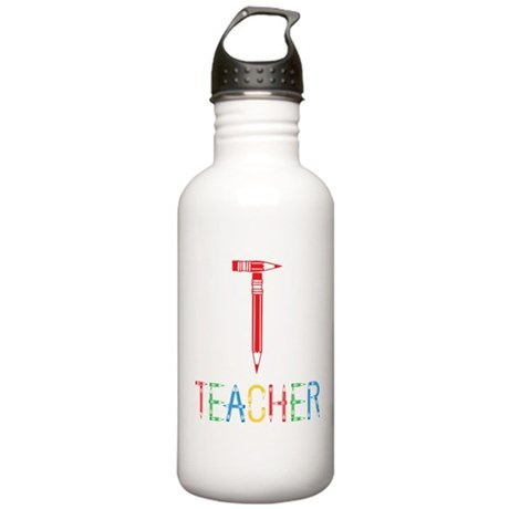 Pencils Teacher Stainless Water Bottle 1.0L
