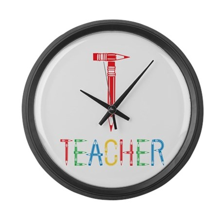 Pencils Teacher Large Wall Clock