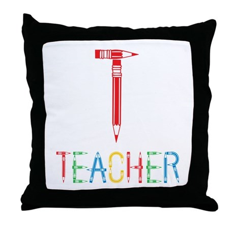 Pencils Teacher Throw Pillow