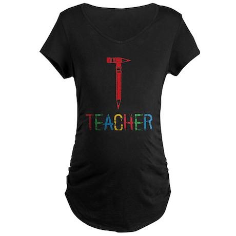 Pencils Teacher Maternity Dark T-Shirt