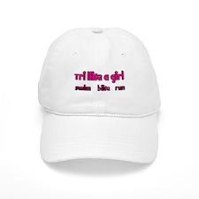 Tri Like a Girl Triathlon Baseball Cap