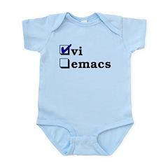 vi vs emacs -- vi Infant Bodysuit