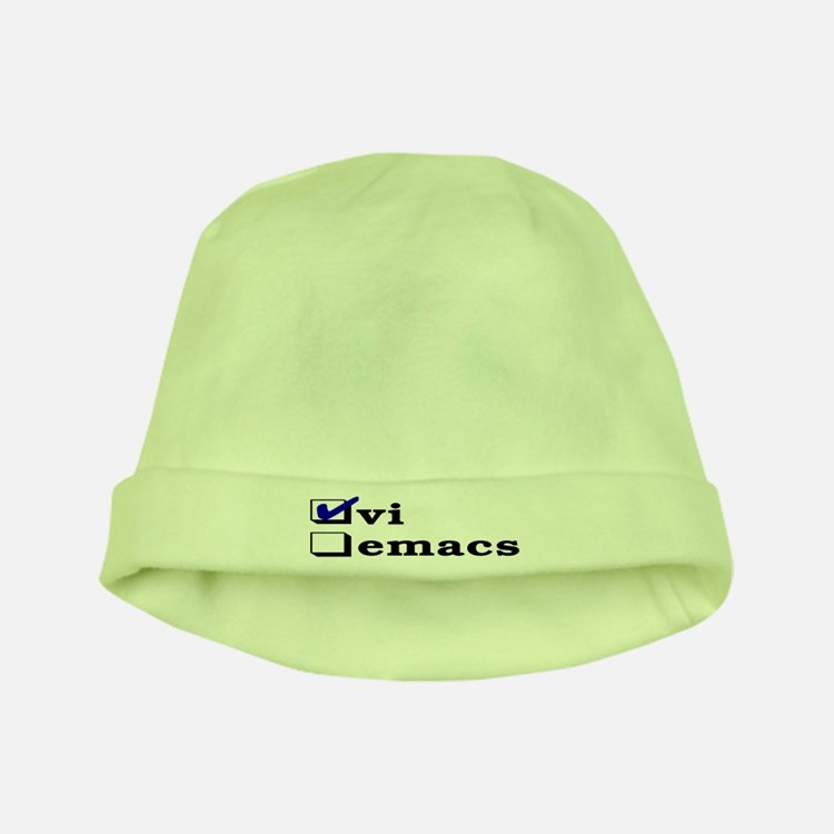 vi vs emacs -- vi baby hat