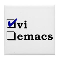 vi vs emacs -- vi Tile Coaster