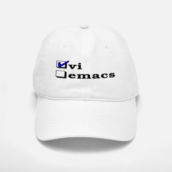 vi vs emacs -- vi Baseball Baseball Cap
