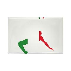 Italy Soccer Rectangle Magnet (100 pack)