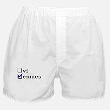 vi vs emacs -- emacs Boxer Shorts