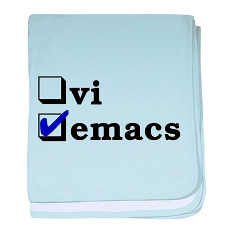 vi vs emacs -- emacs baby blanket