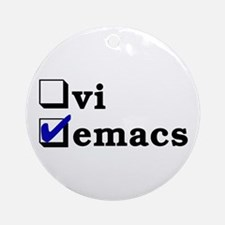 vi vs emacs -- emacs Ornament (Round)