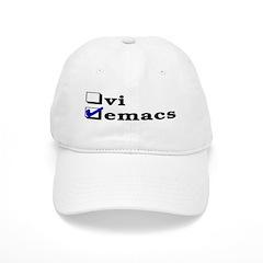 vi vs emacs -- emacs Baseball Cap