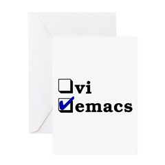 vi vs emacs -- emacs Greeting Card