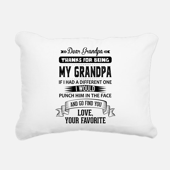 Dear Grandpa, Love, Your Favorite Rectangular Canv