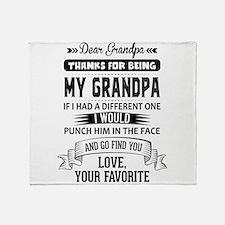 Dear Grandpa, Love, Your Favorite Throw Blanket