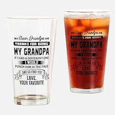 Dear Grandpa, Love, Your Favorite Drinking Glass