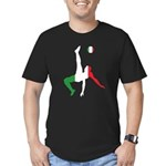 Italy Soccer Men's Fitted T-Shirt (dark)