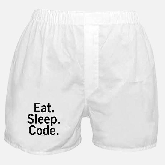 Eat. Sleep. Code. Boxer Shorts