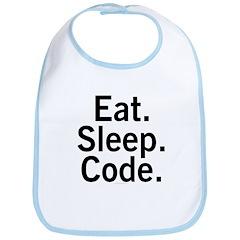 Eat. Sleep. Code. Bib