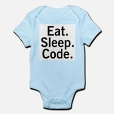 Eat. Sleep. Code. Infant Bodysuit