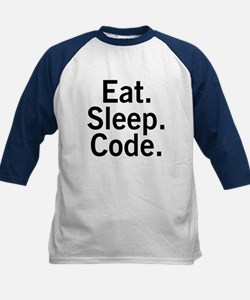Eat. Sleep. Code. Kids Baseball Jersey