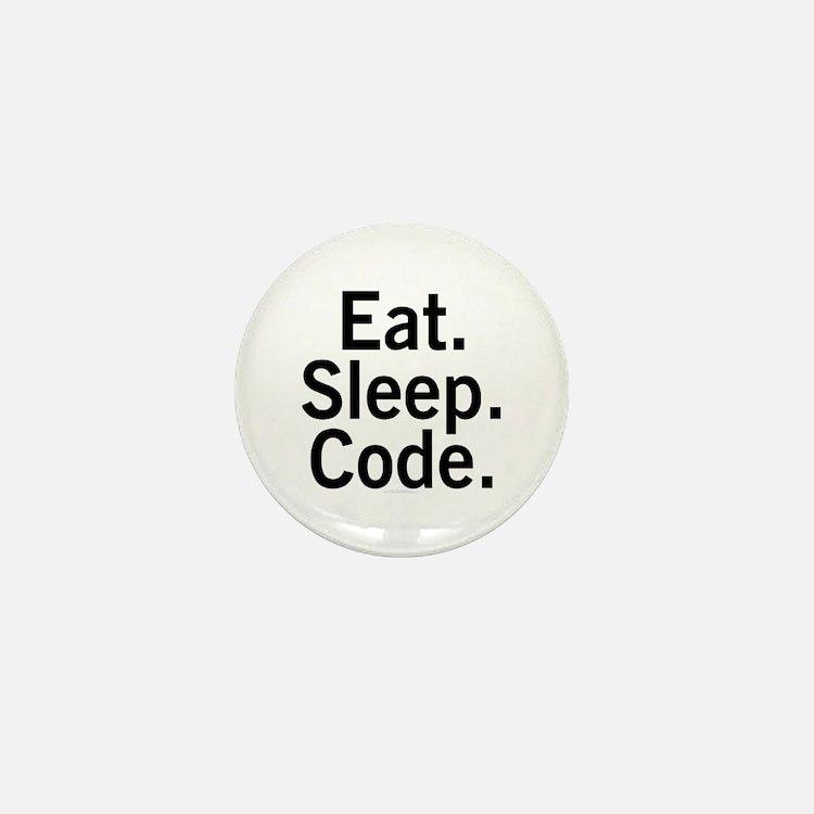 Eat. Sleep. Code. Mini Button