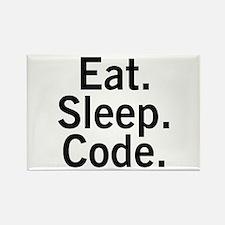 Eat. Sleep. Code. Rectangle Magnet