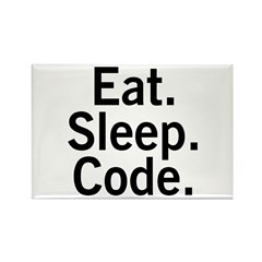 Eat. Sleep. Code. Rectangle Magnet (100 pack)