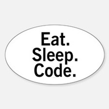 Eat. Sleep. Code. Decal