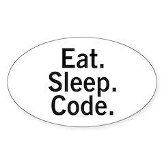 Eat. Sleep. Code. Decal