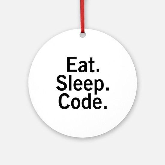 Eat. Sleep. Code. Ornament (Round)