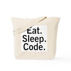 Eat. Sleep. Code. Tote Bag