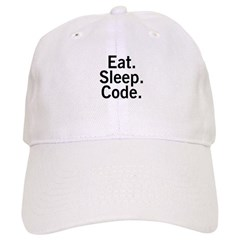 Eat. Sleep. Code. Baseball Cap