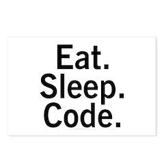 Eat. Sleep. Code. Postcards (Package of 8)