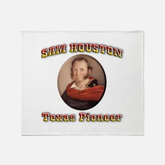 Sam Houston Throw Blanket