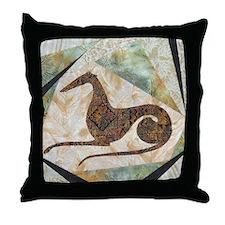 Tribal Greyhound Throw Pillow