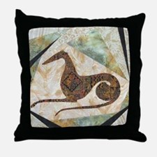 Tribal Greyhound Throw Pillow