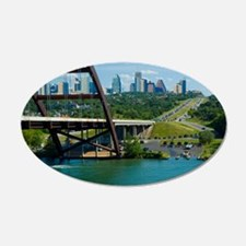 Austin Texas Skyline Bridge Wall Decal