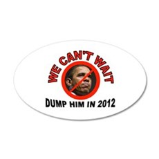 DUMP HIM 22x14 Oval Wall Peel